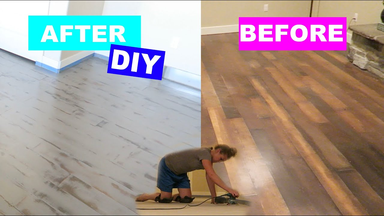 Diy Project Trip To Home Depot Chalk Painting Floors Youtube