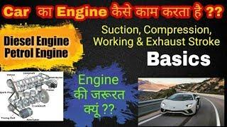 27) ENGINE Working ~ Diesel Engine    Petrol Engine ~ In Hindi    Basic concepts