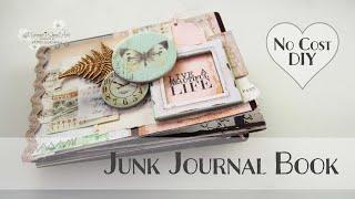 DIY Mini Album from Junk ~ Journal Book ♡ Maremi's Small Art ♡