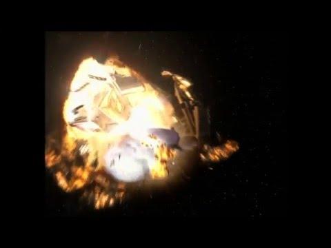 """Star Trek Voyager - Delta Flyer warp core breach """"Timeless"""""""