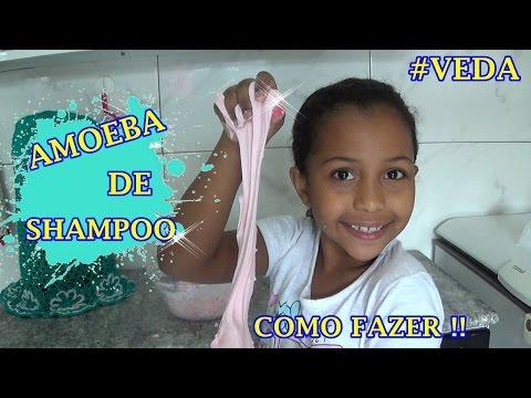 AMOEBA DE SHAMPOO!! COMO FAZER!! #VEDA