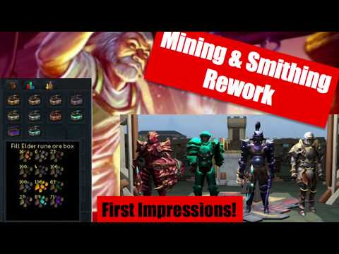 Mining & Smithing Rework First Impressions/Thoughts [RuneScape 3 2019]
