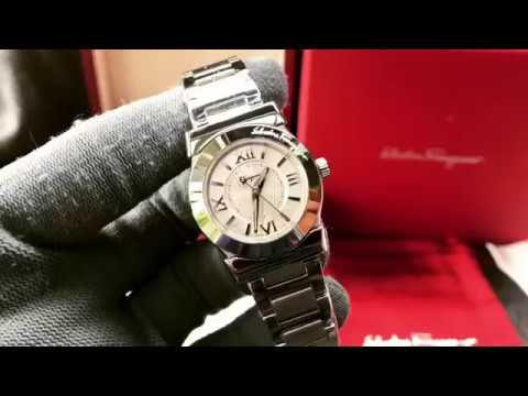 e1aceeeeb7025 (Review Đồng Hồ]) Ferragamo Salvatore Ferragamo watch VEGA Silver dial  #FI5010013 Ladies