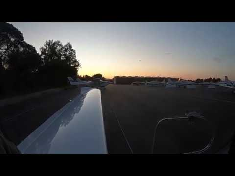 Night pattern work at Palo Alto Airport. Diamond DA40  & GoPro Hero 6