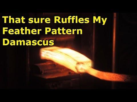 Blacksmithing Forging Feather Pattern Damascus #3