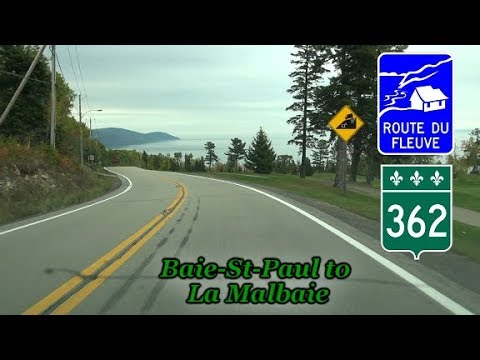 Route 362, Baie-St-Paul to La Malbaie, Charlevoix, Québec