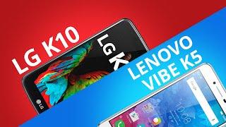 lg k10 vs lenovo k5 comparativo