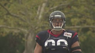 J.J. Watt Steals the Show at Redskins-Texans Practice