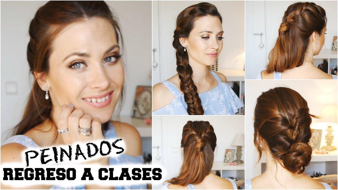 3 peinados para la escuela trabajo fiestas lizy p youtube - Peinados fiesta faciles ...