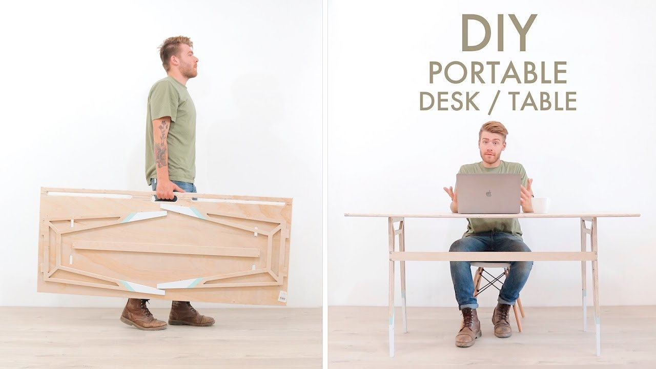 Diy Portable Foldable Desk From One
