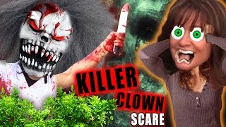 KILLER CLOWN ATTACKS HIDING IN BUSHES! Bloody & Scary!