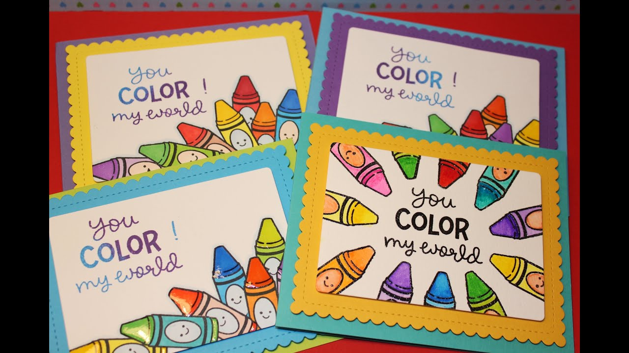 Valentines Day Card 8 2 Types Of Colouring And Lawn