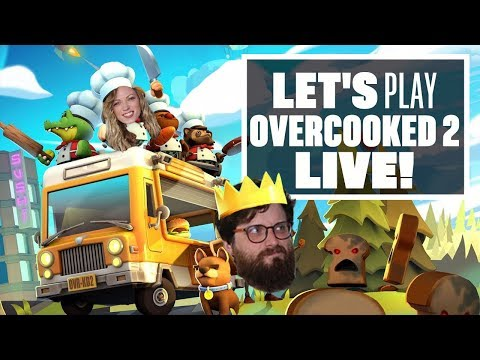 Let's Play Overcooked 2 - Live gameplay!
