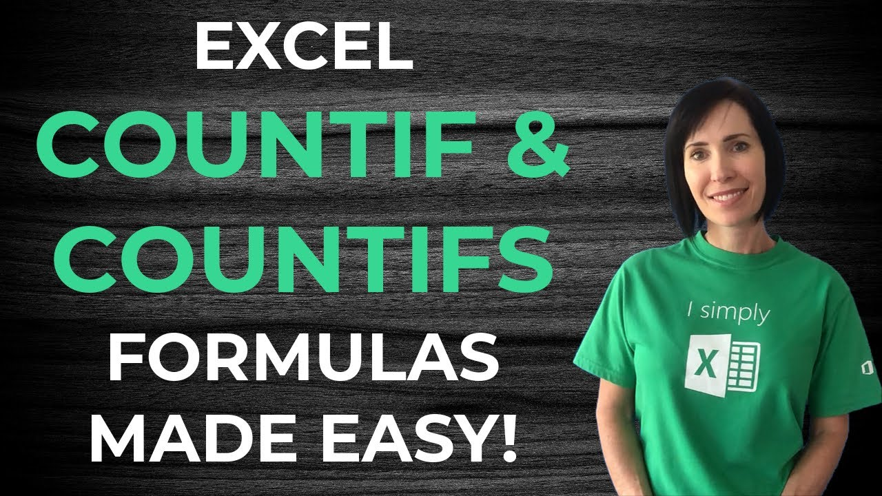 Excel COUNTIF and COUNTIFS Formulas Explained • My Online ...