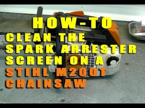 how to clean the spark arrester screen on a stihl ms200t chainsaw youtube. Black Bedroom Furniture Sets. Home Design Ideas