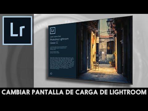 Personalizar pantalla de carga de Lightroom (splash screen)