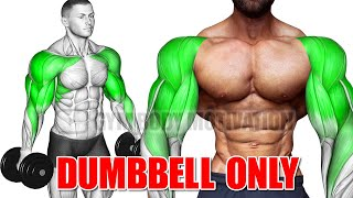 SHOULDER AND ARMS WORKOUT WITH DUMBELLS ONLY