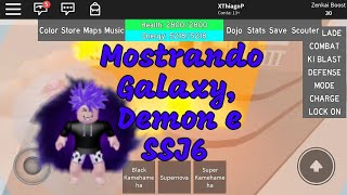 SHOWING NEW GALAXY, DEMON AND SSJ6 TRANSFORMATIONS IN DRAGON BALL RAGE/ROBLOX