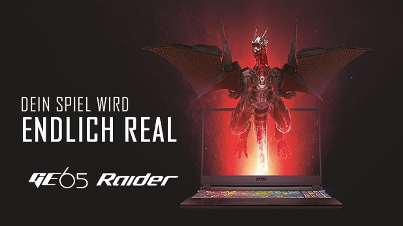 MSI GE65 Raider | Mobiles Gaming für Enthusiasten