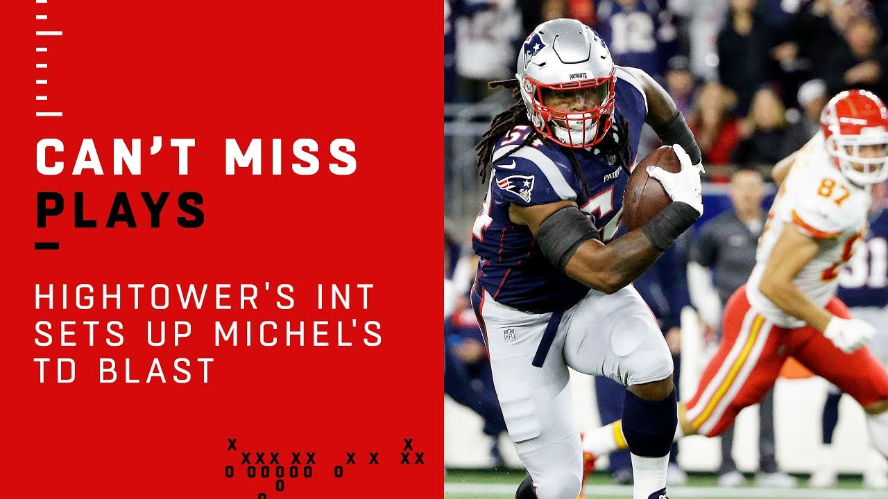 Dont'a Hightower's INT Sets Up Sony Michel's TD Blast!