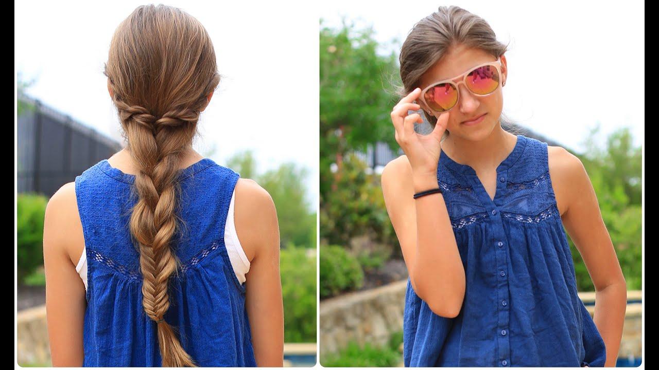 rope twist combo braid   cute girls hairstyles - youtube