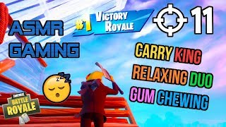 ASMR Gaming ???? Fortnite Relaxing 1st Season 2 Duo Win! Gum Chewing ???????? Controller Sounds ????