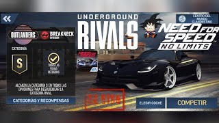 Need For Speed No Limits Android Rivales Clandestino Outlanders 1 Llamando a la Mesa Redonda :)