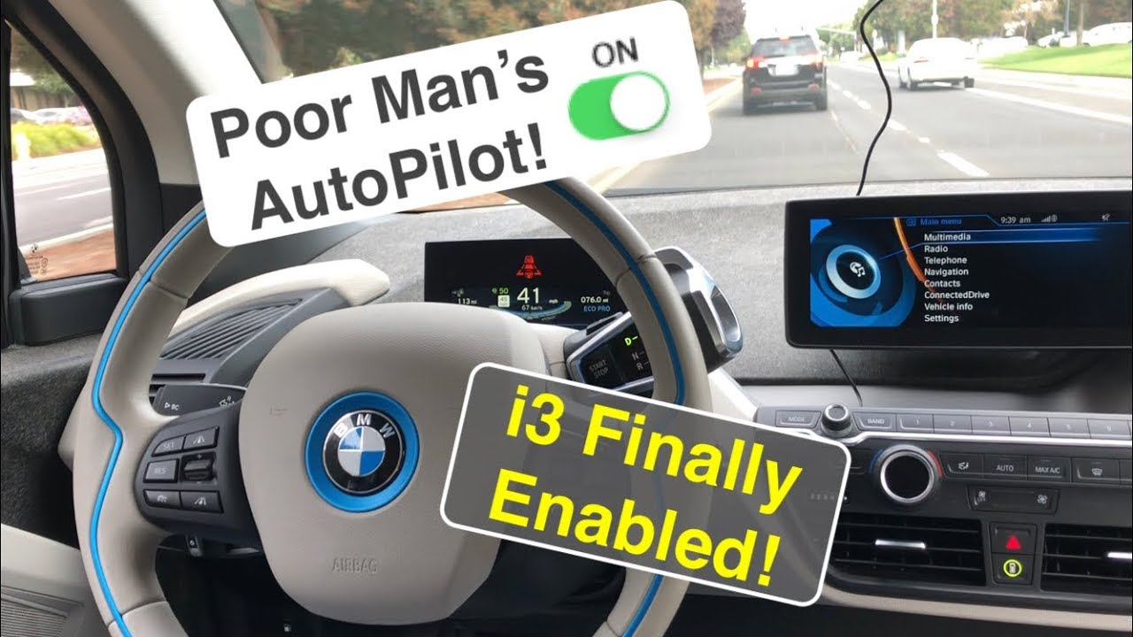 Poor Man's AutoPilot Enabled on BMW i3 Traffic Jam Assist