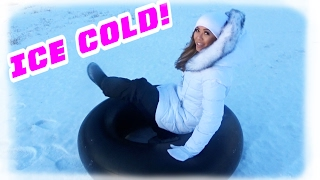 ALMOST FLEW OFF MY SNOW TUBE!