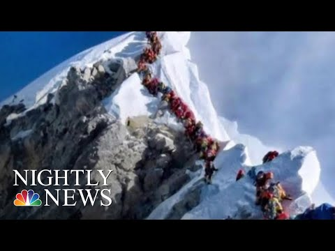 Three More Climbers Die On Mount Everest As Busy Season Causes Traffic Jam | NBC Nightly News
