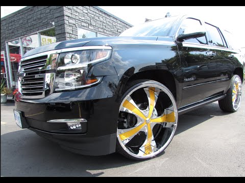 2017 Chevrolet Tahoe Ltz Riding On 28 Inch Custom Rims Tires