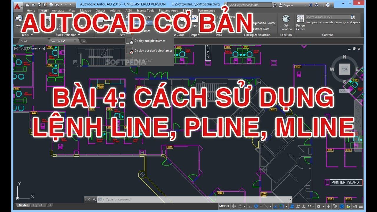 ✔ Autocad tutorial – Bài 4 – Lệnh Line, Pline và Mline – Autocad PhuongTk | NESA iCAD