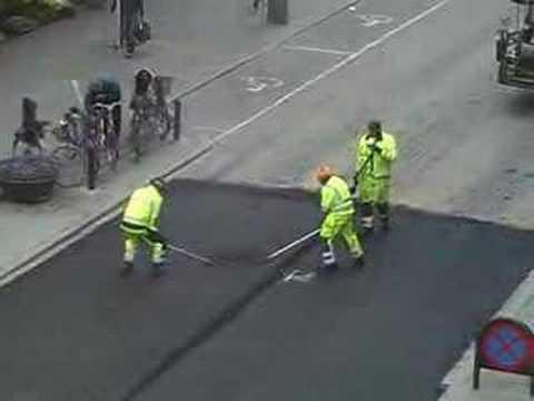 Street renovation in Malmö - Asphalt fun