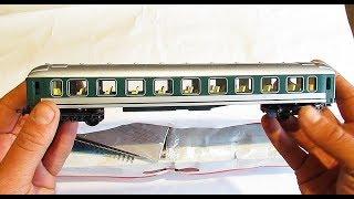 Открываю коробку с детской железной дорогой и разные модели для жд макета масштаб H0 1/87