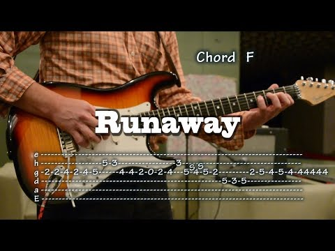Runaway - Ventures cover with Tabs and Chords, como tocar, lesson, レッスン
