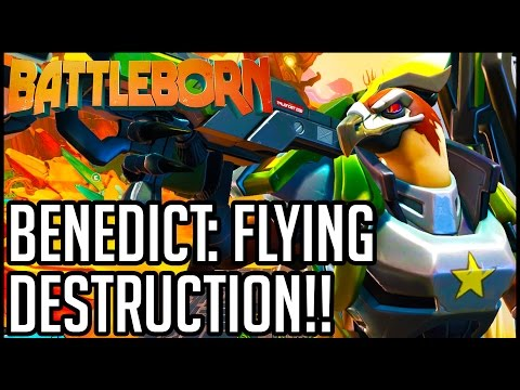 Battleborn Gameplay - Multiplayer Part 2 - BENEDICT FLIES HIGH!! (PC/PS4/XB1 1080p 60fps HD)
