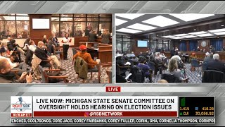 ? LIVE: Michigan State Senate Committee on Oversight Holds Hearing on Election Issues 12/1/20