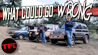 Can These Classic Japanese OffRoaders Survive The Cliffhanger OffRoad Challenge?