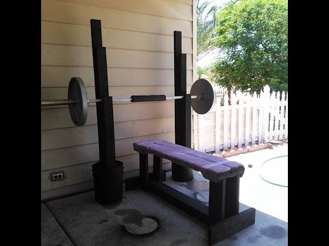 How to build a weight bench - bench press