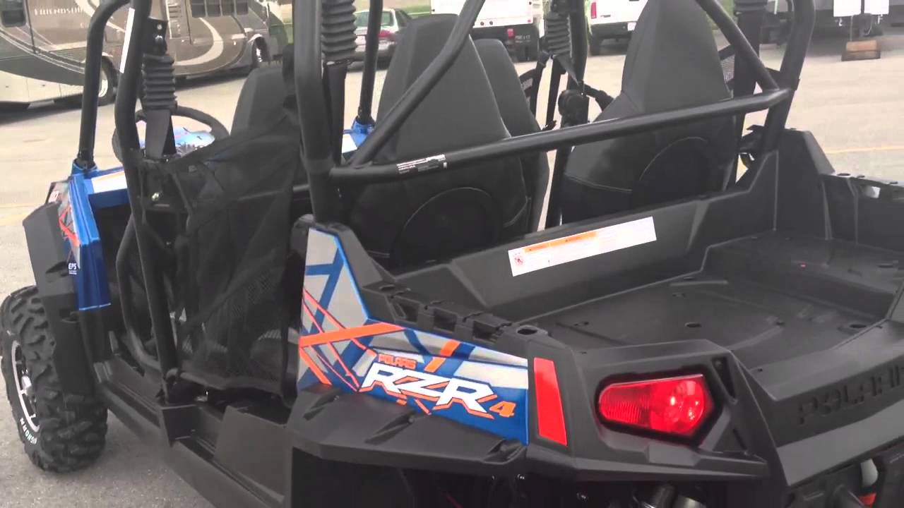 medium resolution of 2013 polaris ranger rzr 4 800 eps le in two tone blue fire orange at tommy s motorsports youtube