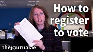 Here's how to register to vote