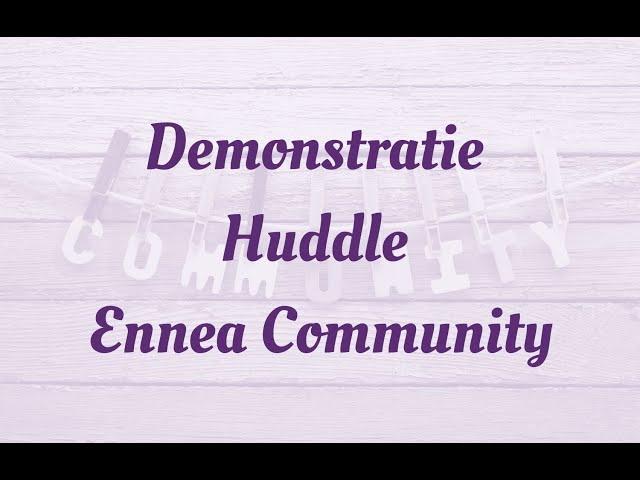 demo ennea community huddle