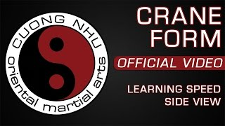 Cuong Nhu Crane Form - Official Kata - Learning Speed - Side View