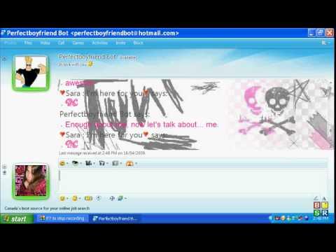Chatting To Perfectboyfriendbot On MSN