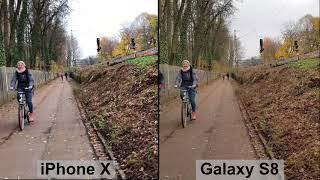 Samsung Galaxy S8 vs. Apple iPhone X: Video image stabilization | Test