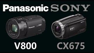 panasonic HC-V800 vs Sony HDR-CX675