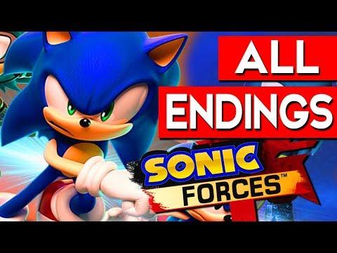 SONIC FORCES ENDING - All Endings Final Boss + SECRET Ending