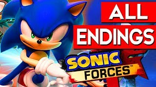 SONIC FORCES ENDING - All Endings Final Boss + SECRET Ending