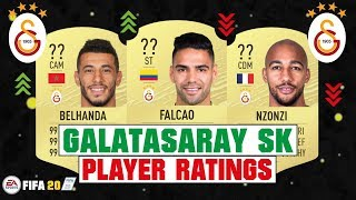 FIFA 20 | GALATASARAY SK PLAYER RATINGS 😳🔥| FT. FALCAO, BELHANDA, NZONZI... etc