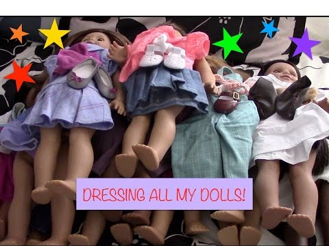 Dressing all my AG Dolls! (July 2016) | AGsparkleproductions